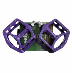 "Wellgo MG-1 BMX Bicycle Magnesium Pedals 9/16"" Purple"