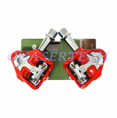 Wellgo MG-8 Magnesium Road Bicycle Clipless Pedals Cr-Mo Axle Red