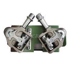 Wellgo MG-8 Magnesium Road Bicycle Clipless Pedals Cr-Mo Axle Gray