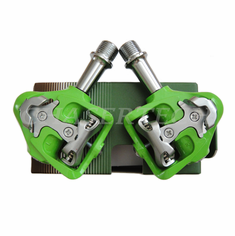 Wellgo MG-8 Magnesium Road Bicycle Clipless Pedals Cr-Mo Axle Green