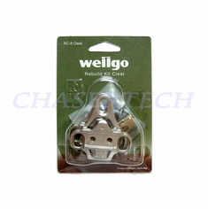 Wellgo RC-8 SPD Pedal Cleats For Look Style Shoes Metal Gray
