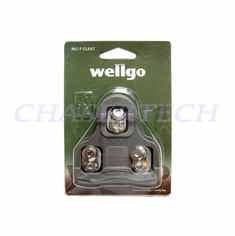 Wellgo RC-7A Pedal Cleats 9 Deg Float Look Keo Compatible Gray