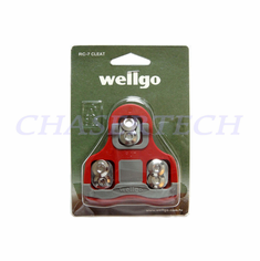 Wellgo RC-7B Pedal Cleats 6 Deg Float Look Keo Compatible Red
