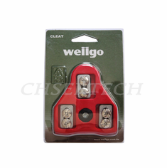 Wellgo RC-5 Pedal Cleats ARC 9 Deg Float Look Delta Compatible Red