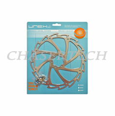Unex Wind-Cutter MTB Road Bicycle Disc Brake Rotor Stainless 203mm