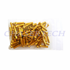 "Bicycle 7075 Alloy Spoke Nipples 2.0mm 14G 5/8"" 72 Pcs Gold"
