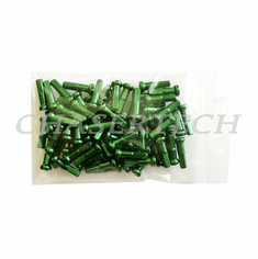 "Bicycle 7075 Alloy Spoke Nipples 2.0mm 14G 5/8"" 72 Pcs Green"