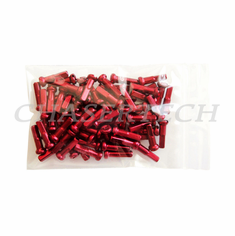 "Bicycle 7075 Alloy Spoke Nipples 2.0mm 14G 5/8"" 72 Pcs Red"