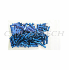 "Bicycle 7075 Alloy Spoke Nipples 2.0mm 14G 5/8"" 100 Pcs Blue"