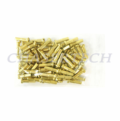 "Bicycle 7075 Alloy Spoke Nipples 2.0mm 14G 5/8"" 100 Pcs Light Gold"