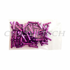 "Bicycle 7075 Alloy Spoke Nipples 2.0mm 14G 5/8"" 100 Pcs Purple"