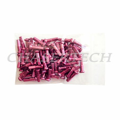 "Bicycle 7075 Alloy Spoke Nipples 2.0mm 14G 5/8"" 100 Pcs Pink"