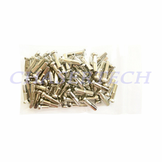 "Bicycle Brass Spoke Nipples 2.0mm 14G 5/8"" 72 Pcs Nickel Plated"