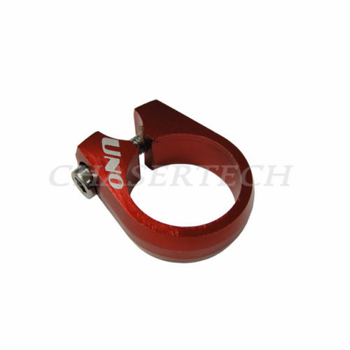 Uno CNC Bicycle Seat Post Clamp 28.6mm Red