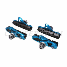 Road Bicycle Caliper Cartridge Brake Pads Shoes Blue 2 Pairs