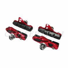 Road Bicycle Caliper Cartridge Brake Pads Shoes Red 2 Pairs