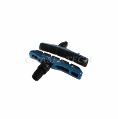 Bicycle V-Brake Hollow Bracket Cartridge Pads Shoes Blue 1 Pair