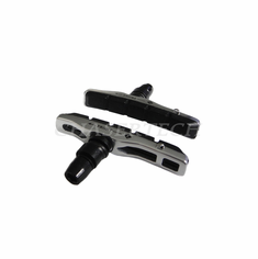 Bicycle V-Brake Hollow Bracket Cartridge Pads Shoes Silver 1 Pair