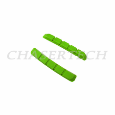 Bicycle V-Brake Cartridge Pad Shoe Inserts Green 1 Pair