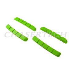 Bicycle V-Brake Cartridge Pad Shoe Inserts Green 2 Pairs