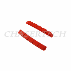 Bicycle V-Brake Cartridge Pad Shoe Inserts Red 1 Pair