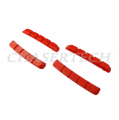Bicycle V-Brake Cartridge Pad Shoe Inserts Red 2 Pairs