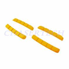 Bicycle V-Brake Cartridge Pad Shoe Inserts Yellow 2 Pairs