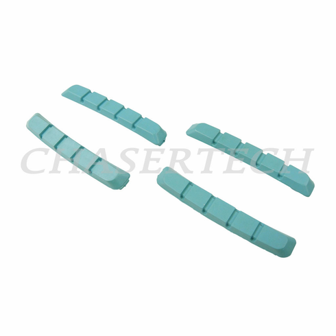 Bicycle V-Brake Cartridge Pad Shoe Inserts Blue 2 Pairs