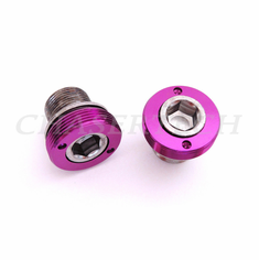 Bicycle M15 ISIS Cr-Mo Crank Axle Bolts 2 Pcs/Set Purple