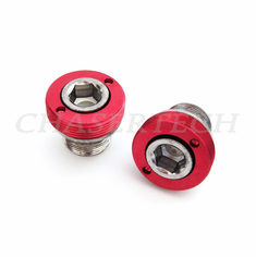 Bicycle M15 ISIS Cr-Mo Crank Axle Bolts 2 Pcs/Set Red