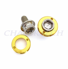 Bicycle M8 Square Tapered Crank Axle Bolts 8mm 2 Pcs/Set Gold