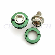 Bicycle M8 Square Tapered Crank Axle Bolts 8mm 2 Pcs/Set Green