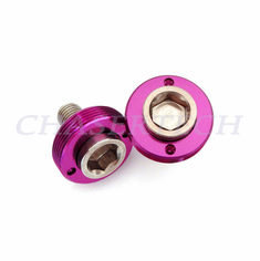 Bicycle M8 Square Tapered Crank Axle Bolts 8mm 2 Pcs/Set Purple