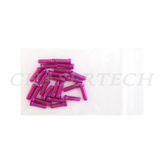 Bicycle Brake Cable End Cap 25 Pieces Purple
