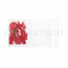 Bicycle Brake Cable End Cap 25 Pieces Red