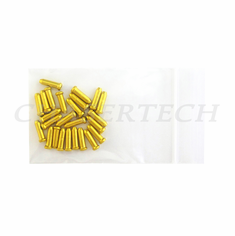 Bicycle Brake Cable End Cap 25 Pieces Gold