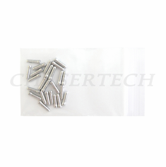 Bicycle Derailleur Cable End Caps 25 Pieces Silver