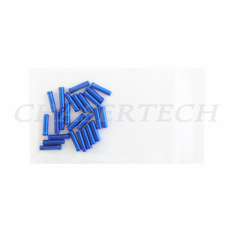 Bicycle Derailleur Cable End Caps 25 Pieces Blue