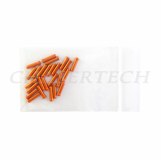 Bicycle Derailleur Cable End Caps 25 Pieces Orange