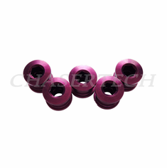 Bicycle Alloy Single Speed 6.5mm Chain Ring Bolt Nut Set Purple
