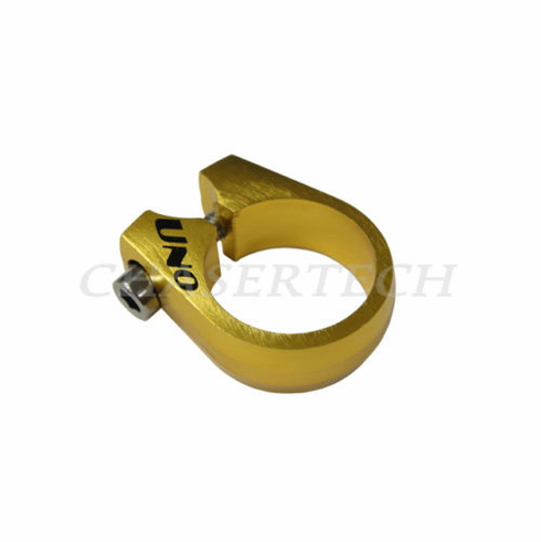 Uno CNC Bicycle Seat Post Clamp 28.6mm Gold