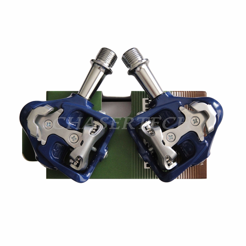 Wellgo MG-8 Magnesium Road Bicycle Clipless Pedals Cr-Mo Axle Blue