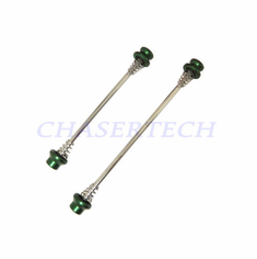 Bicycle Hex Bolt Long Wheel Skewers F&R Set Green