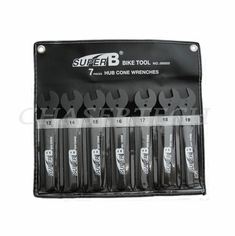 Super B Bicycle Bike Tool Hub Cone Wrench 13 - 19mm 7 Pieces Set