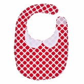 Baby Bib - Red Flower