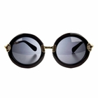 Polarized Black Round Frame Toddler Sunglasses