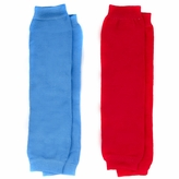 Baby Leg Warmers Solid Colors Set of 2 - Red and Blue - Final Sale