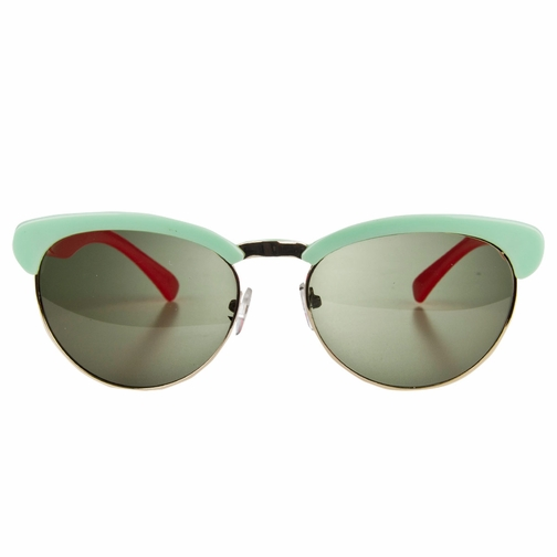 Polarized Green and Pink Horn Rimmed Toddler Sunglasses