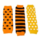Jack's Halloween Baby Leg Warmers Set of 3 - Striped and Polka Dot - Final Sale - Final Sale