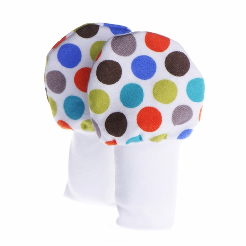 No Scratch Baby Mittens Colorful Dots 0-6m